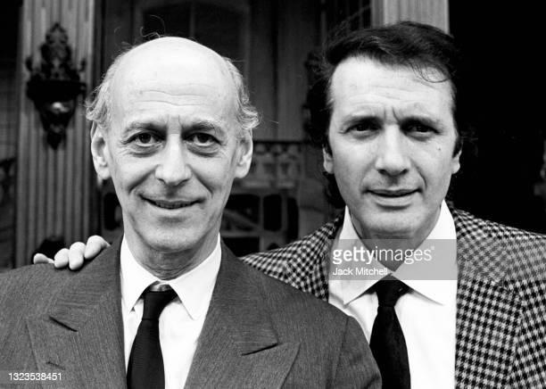 View of Metropolitan Opera General Manager Rudolf Bing and tenor Franco Corelli, April 1972.