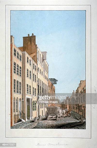 View of Meux's Brewery and a horse and cart in Clerkenwell Road Finsbury London c1805