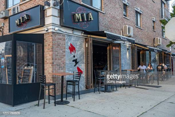 View of MIA Restaurant Lounge in Astoria after the State Liquor authority suspended its liquor license for failing to maintain social distance in...