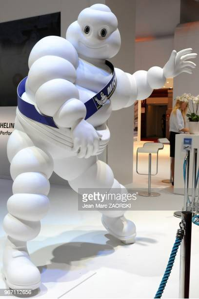 A view of Michelin Bibendum at the Paris Motor Show in Paris in France on September 27 2012