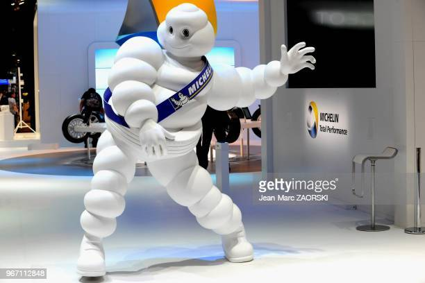 A view of Michelin Bibendum at the Paris Motor Show in Paris in France on September 28 2012
