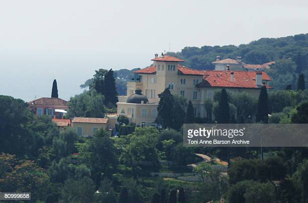 View of Microsoft CoFounder Paul Allen's home where Angelina Jolie and Brad Pitt are staying on May 5 2008 in SaintJeanCapFerrat France