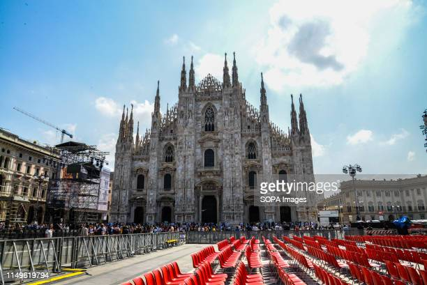 A view of Milan Cathedral or Duomo di Milano