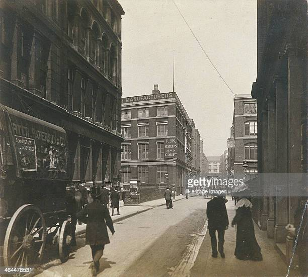 View of Milton Street London c1920 with a carriage in the foreground
