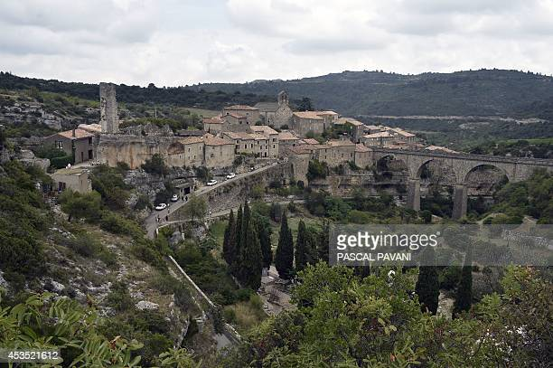 View of Minerve's Cathar village in the Herault department southern France on August 10 2014 AFP PHOTO / PASCAL PAVANI