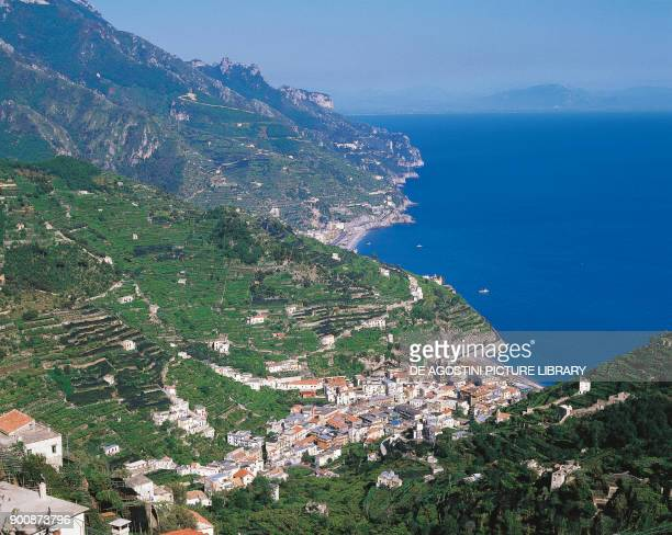 View of Minori Amalfi Coast Campania Italy