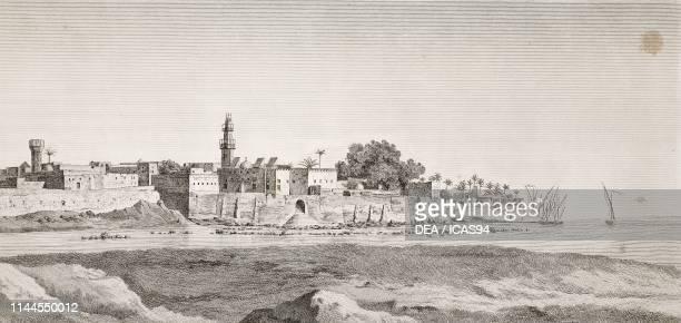 View of Minya, Egypt, engraving by Dequevauvillers after a drawing by Dutertre, from Description de l'Egypte, ou Recueil des observations et des...
