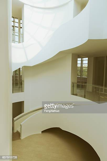 View of modern architecture building atrium