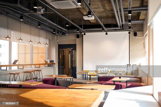 view of modern co-working space - ロビー ストックフォトと画像
