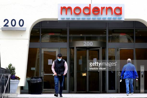 A view of Moderna headquarters on May 08 2020 in Cambridge Massachusetts Moderna was given FDA approval to continue to phase 2 of Coronavirus vaccine...