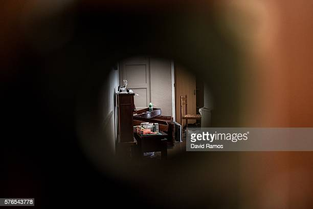 A view of Mohamed Lahouaiej Bouhlel's apartment is seen through the keyhole on July 16 2016 in Nice France The FrenchTunisian attacker killed 84...