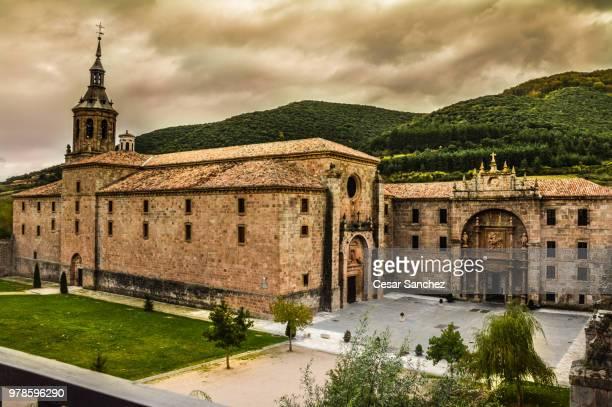 View of Monasterio de Yuso, San Millan de la Cogolla, La Rioja, Spain