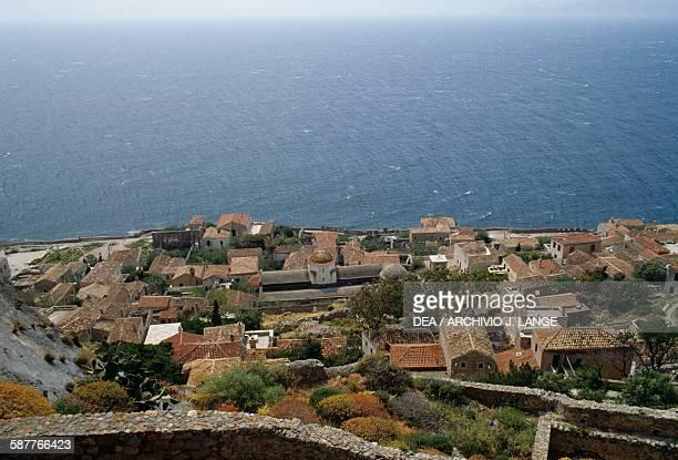View of Monemvasia Peloponnese Greece