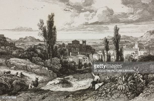 View of Monreale Sicily Italy engraving by Thienon from Italie by AlexisFrancois Artaud de Montor Sicilie by Gigault de La Salle L'Univers...