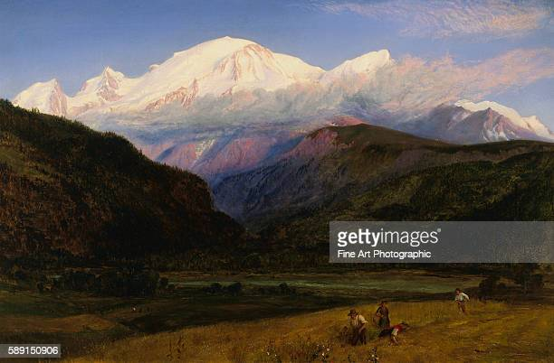 A View of Mont Blanc from Servoz France by Henry Moore