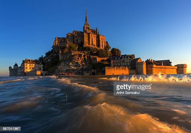 View of Mont Saint-Michel, Normandy, France