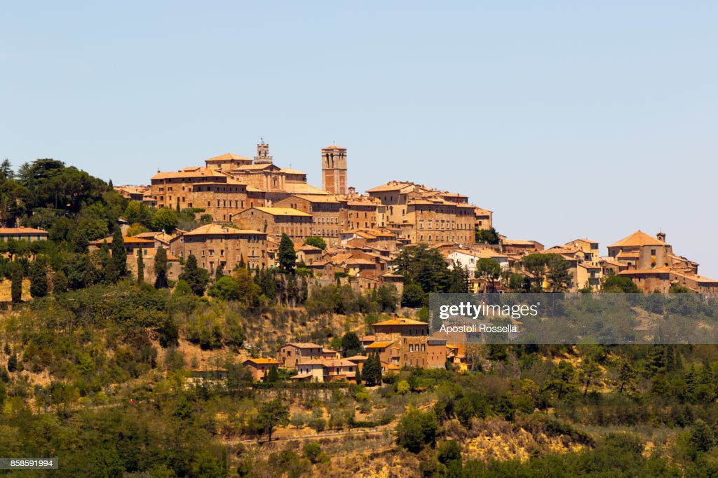 view of Montepulciano, July 17, 2017, Tuscany : Stock-Foto