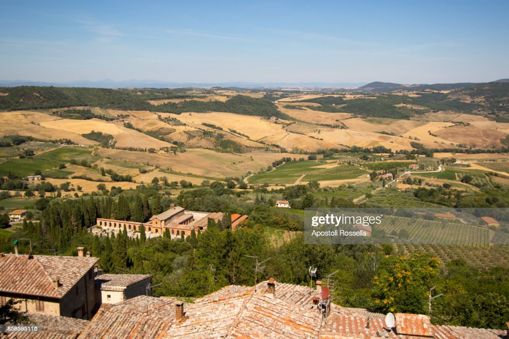view of Montepulciano : Stock-Foto