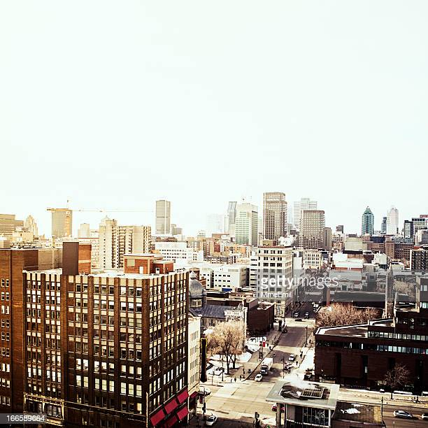 View of Montreal from the top of a building
