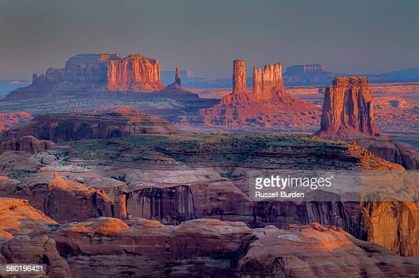 View of Monument Valley from Hunts Mesa