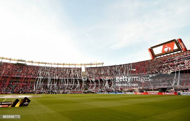 View of Monumental Stadium prior a first leg match between River Plate and Lanus as part of semifinals of Copa CONMEBOL Libertadores Bridgestone 2017...