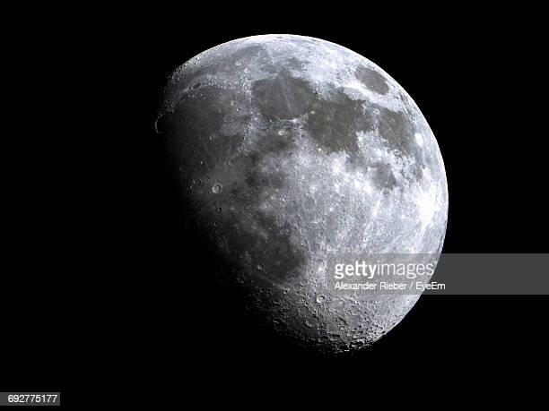 view of moon against sky at night - moon stock pictures, royalty-free photos & images
