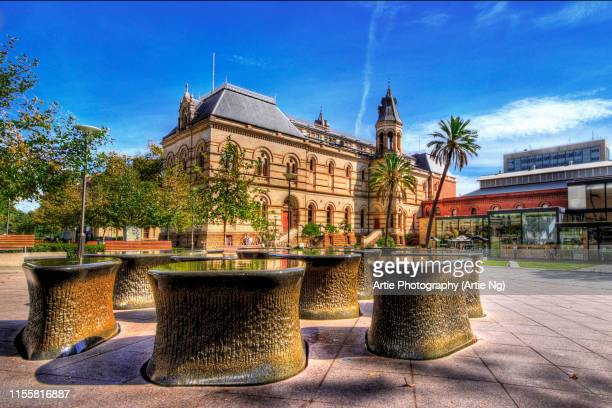 View of Mortlock Library and South Australian Museum, North Terrace, Adelaide, South Australia