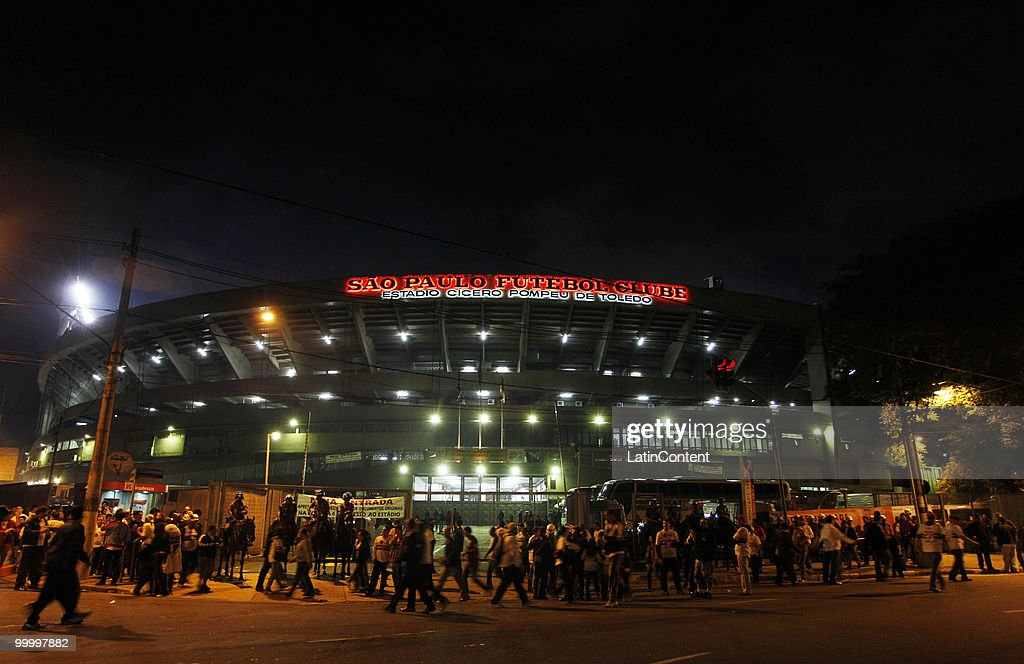 View of Morumbi stadium prior to the Libertadores Cup match between Cruzeiro and Sao Paulo on May 19, 2010 in Sao Paulo, Brazil.