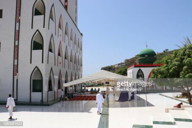A view of Mosque of the Divine in Dakar Senegal on October 12 2018 The Mosque of the Divine was built near a beach by Mohamed Gorgui Seyni Gueye a...