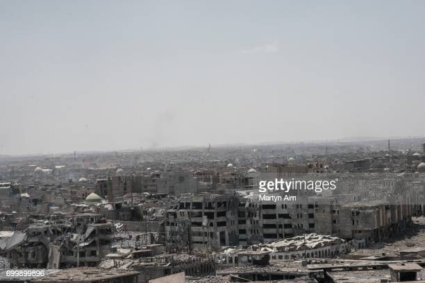 A view of Mosul's Old City from an Iraqi forces sniper position in Adedat a neighbourhood in the Old City of west Mosul the last area of the city...