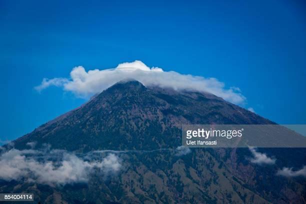 KARANGASEM BALI INDONESIA SEPTEMBER 26 A view of mount Agung on September 26 2017 in Karangasem regency Island of Bali Indonesia Indonesian...