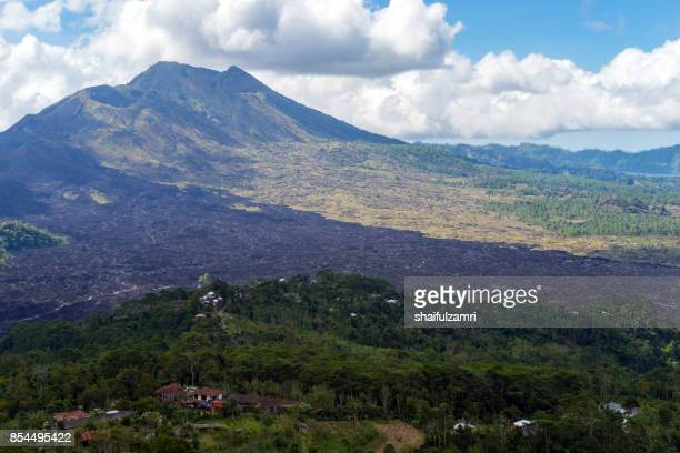 View of Mount Batur in Bali from province of Kintamani