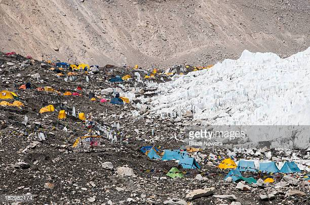 View of Mount Everest Base Camp in Nepal