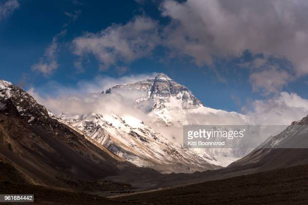 View of Mount Everest from Tibet side, China