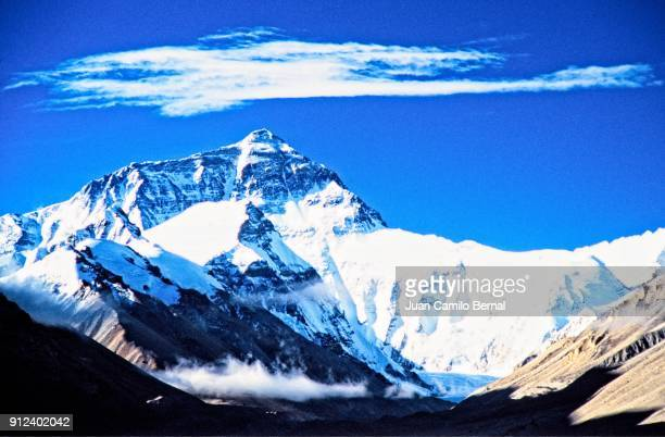 View of Mount Everest's North Face in Tibet.