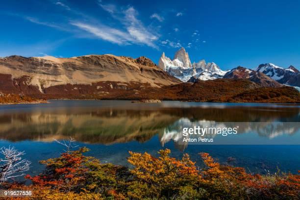 View of Mount Fitz Roy and Lago Capri, Patagonia, Argentina