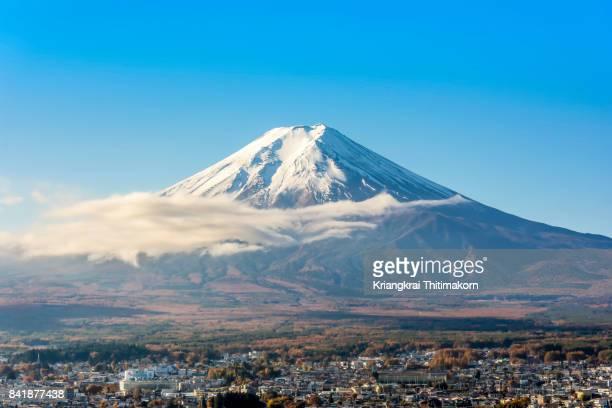 View of Mount Fuji in Japan.
