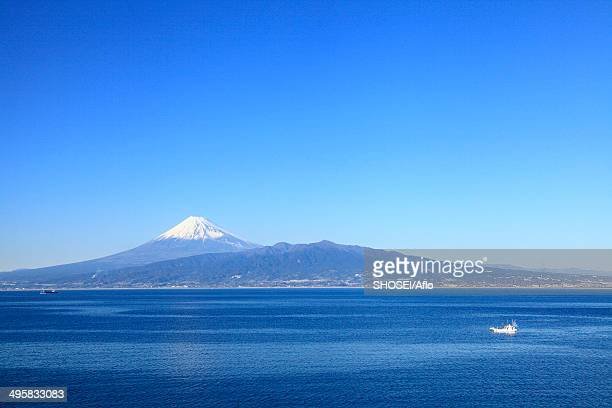 view of mount fuji, japan - shizuoka stock photos and pictures