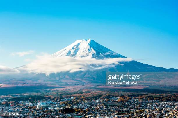view of mount fuji, japan. - shizuoka stock photos and pictures