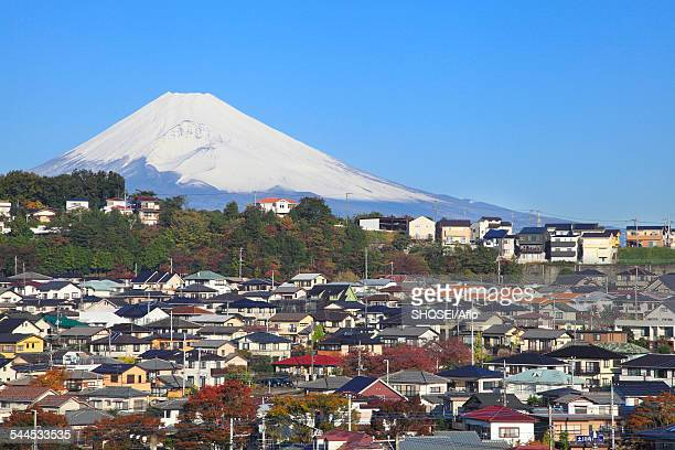 view of mount fuji - mishima city stock photos and pictures
