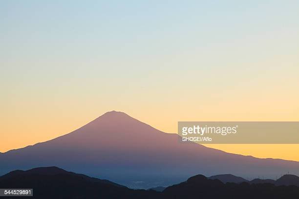 view of mount fuji, shizuoka prefecture, japan - shizuoka stock photos and pictures