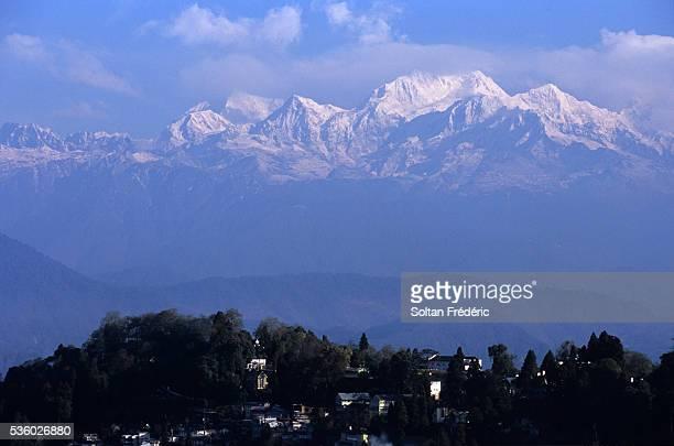 View of Mount Kanchenjunga from Darjeeling