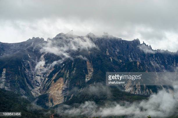 View of Mount Kinabalu a year after minor earthquake struck area with a moment magnitude of 6.0 on 5 June 2015.