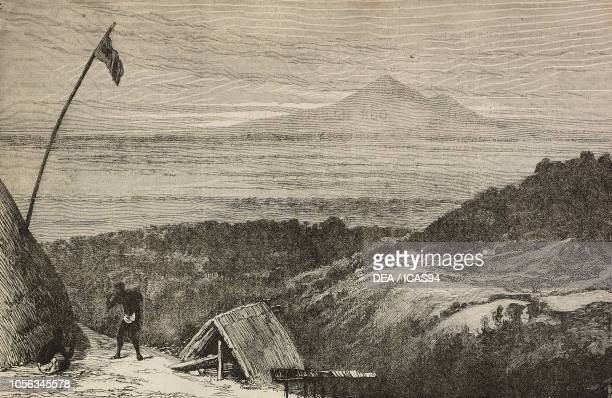 View of Mount Meru, Tanzania, from a sketch by Bishop Albert Robert Tucker, engraving from The Illustrated London News, No 2779, July 23, 1892.