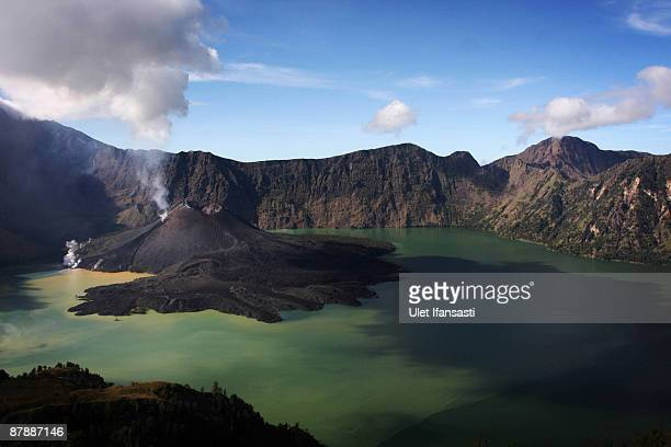 View of Mount Rinjani, also known as Gunung Rinjani, is seen on May 19, 2009 in Lombok, West Nusa Tenggara Province, Indonesia. The 3,726m active...