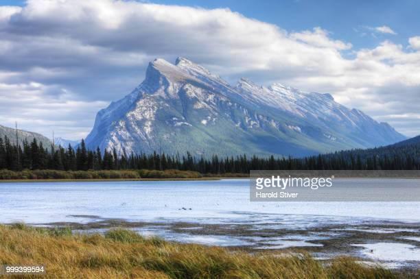 View of Mount Rundle near Banff, Alberta