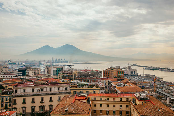 View Of Mount Vesuvius Over Naples, Italy Wall Art