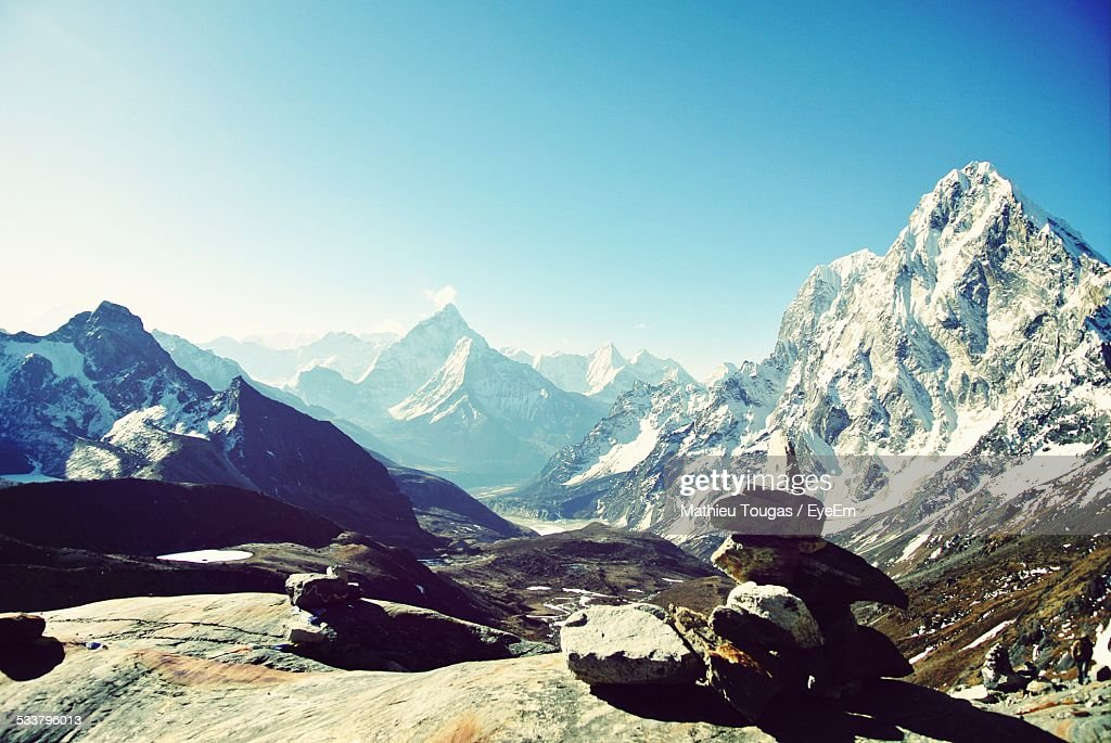View Of Mountain Landscape On Sunny Day : Foto stock