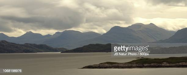 view of mountains across loch torridon - natur stock pictures, royalty-free photos & images