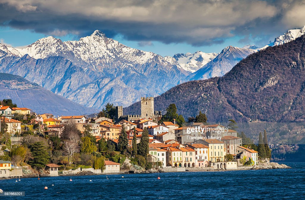 View of mountains and Lake Como, Italy : Stock Photo